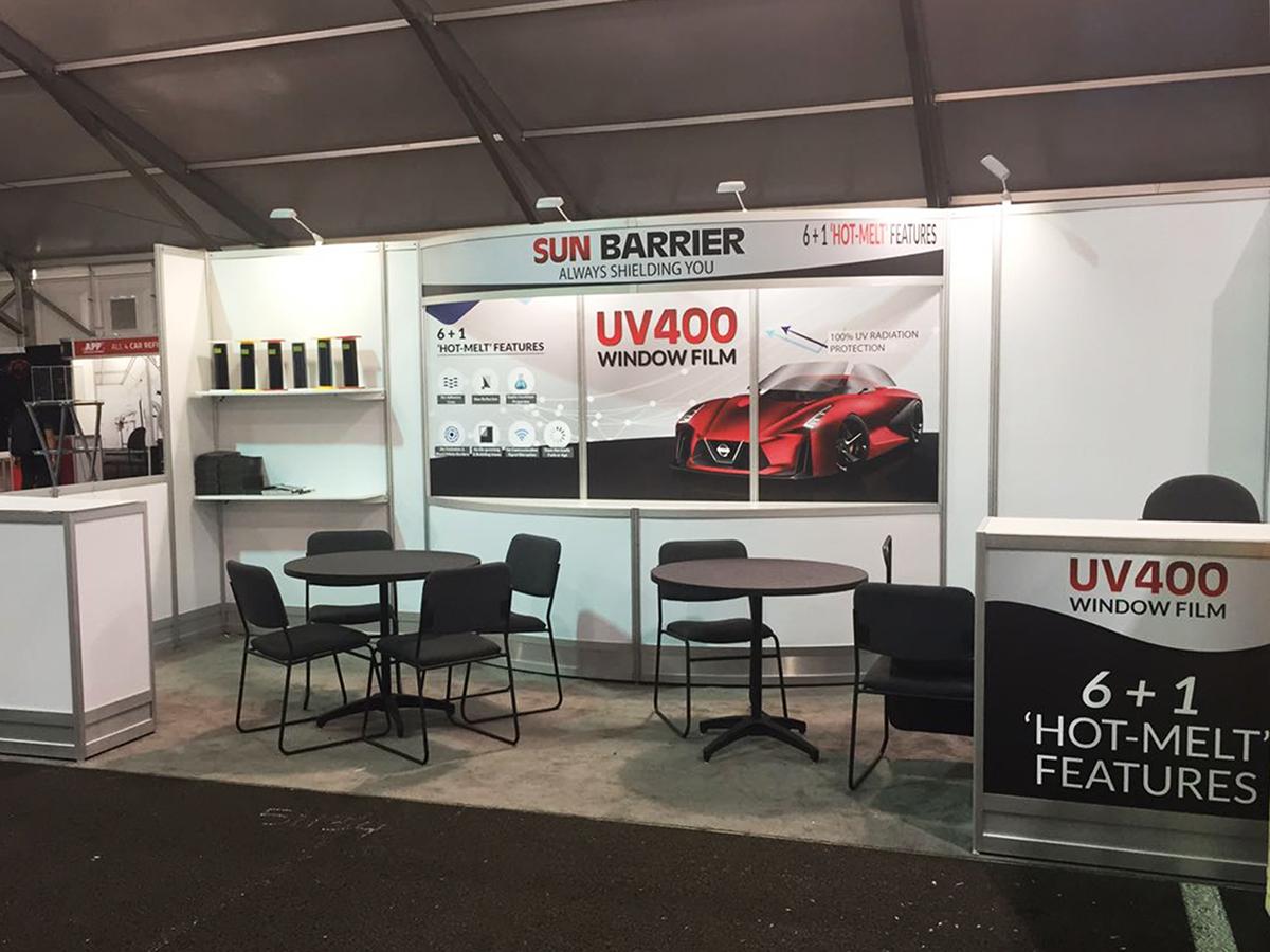 Exhibition Booth Header : Exhibition booth design sun shine marketing on pantone canvas