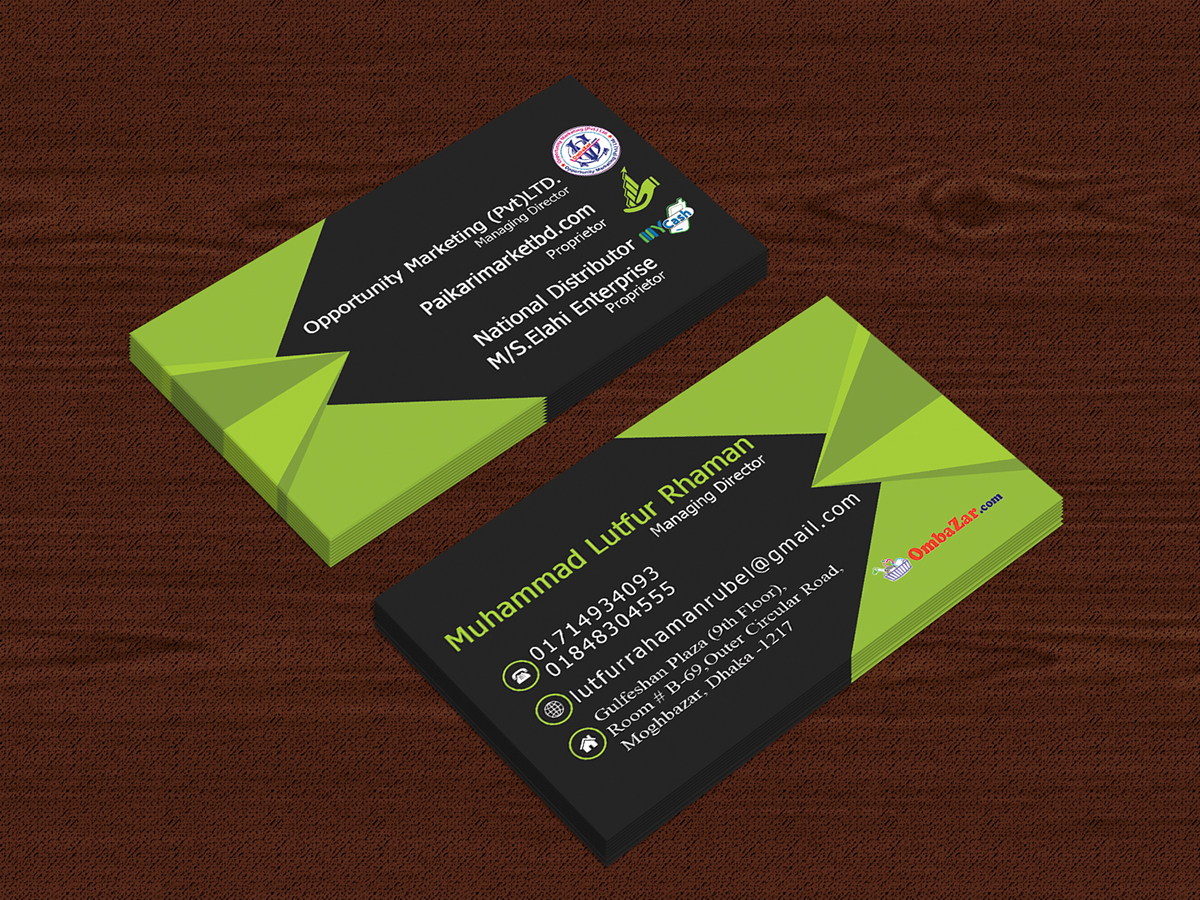 Business Card Design on Student Show