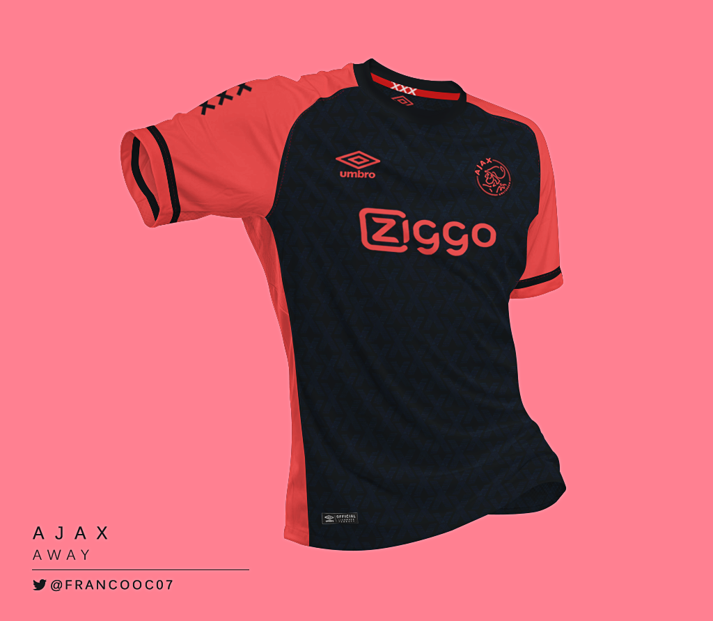 Talisman & Co. | Umbro Ajax Away Kit Concept by Franco Carabajal | Soccer Hats