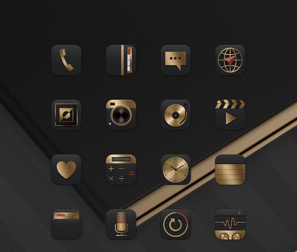 Deluxe Gold Black - Samsung Theme on Behance