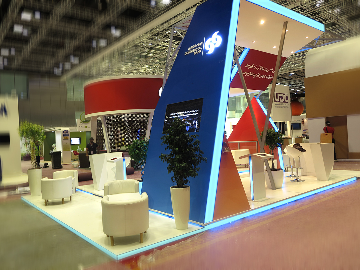 Exhibition Stand Qatar : Exhibition stand commercial bank qatar on behance