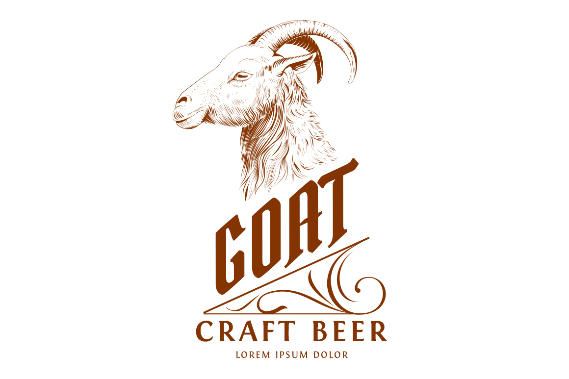 Vintage Goat Head Logo Template on Behance