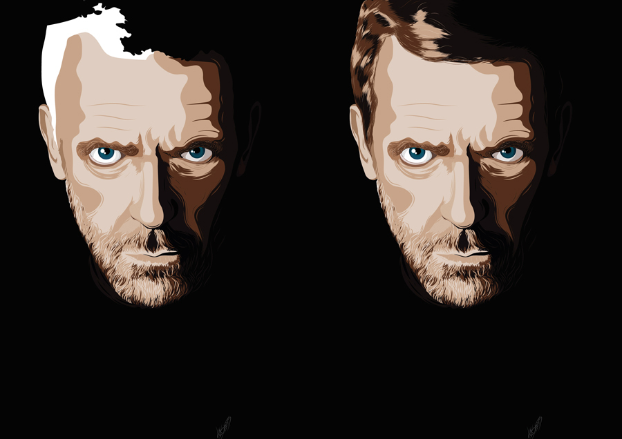 hugh laurie,house md,house,dr. house,kasarts,Illustrator,vector