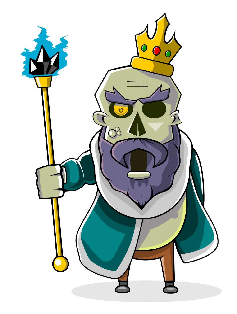 Board card Circus crown evil game ILLUSTRATION  king undead valhalla