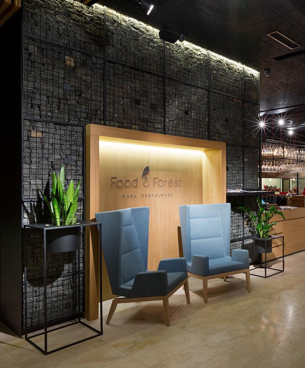 food & forest park restaurant on behance