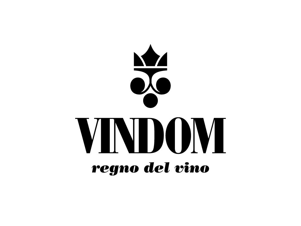 vindom regno vino wine kingdom asti italian cerrapio identity logo minimal grapes textures crown king