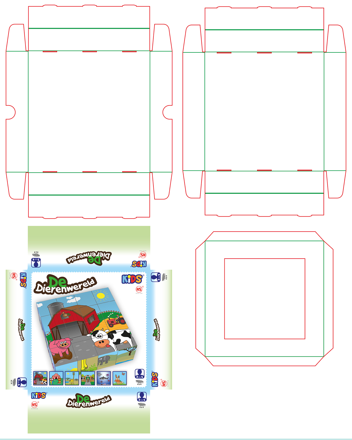 graphic design child product blocks puzzle toy Illustrator photoshop InDesign package book puzzle