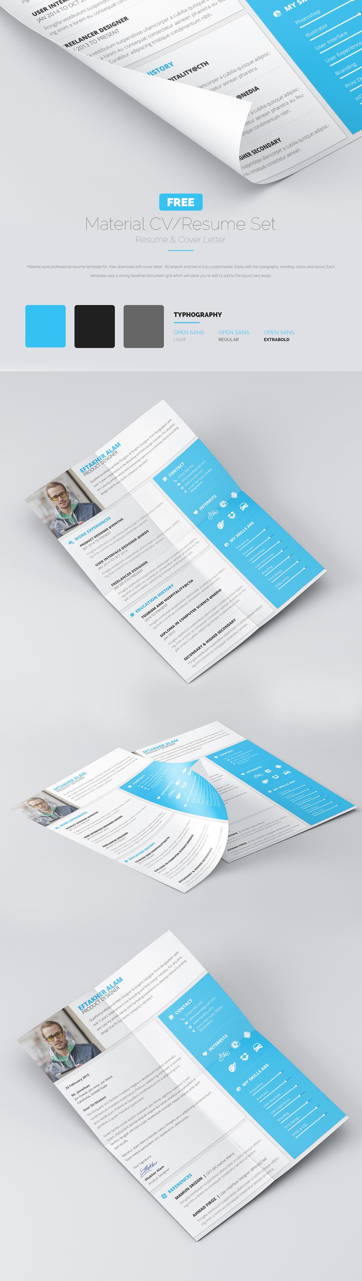 resume cv cover letter freebie copywriting graphic design print design