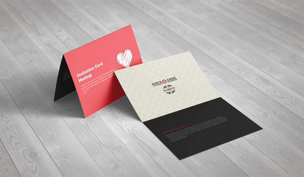 Invitation Greeting Card A5 Brochure Mockup on Behance