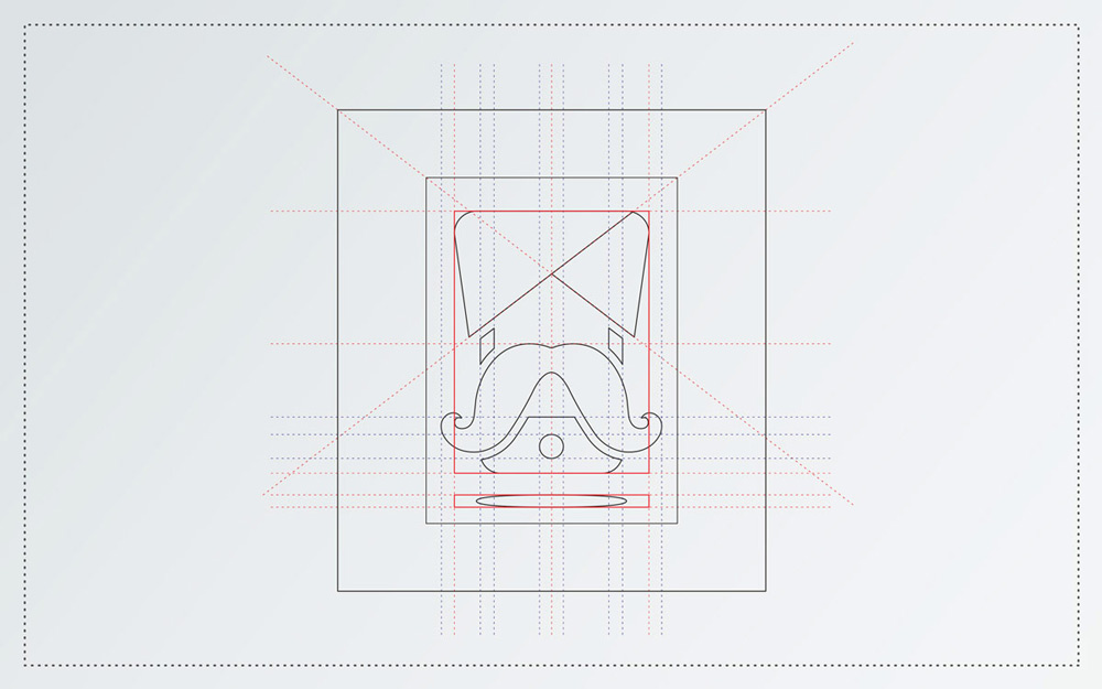 mobile logo brand Web clean Retro modern moustache flat Logo Design logos creative mark identity Freelance