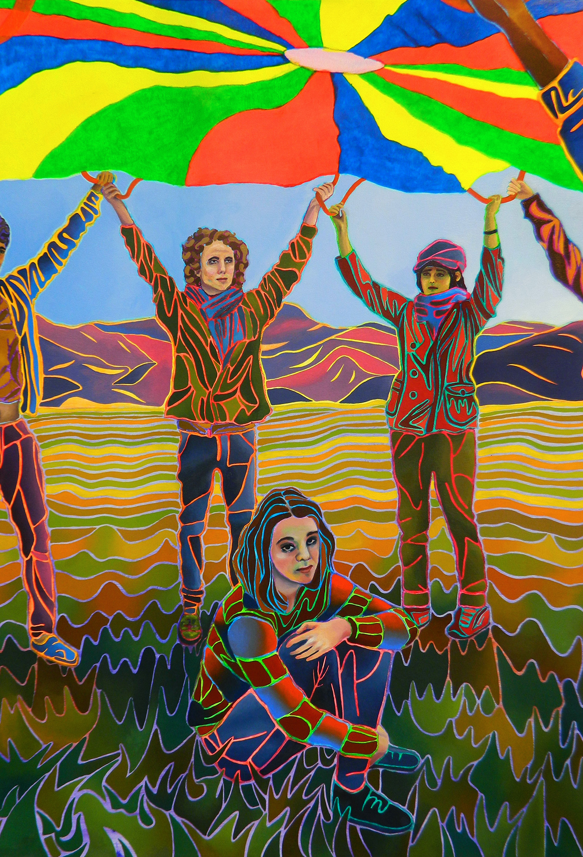 childhood lossofchildhood lossofinnocence innocence selfportrait figurative Illustrative detailed detail colorful maturation surreal hyperreal narrative identity