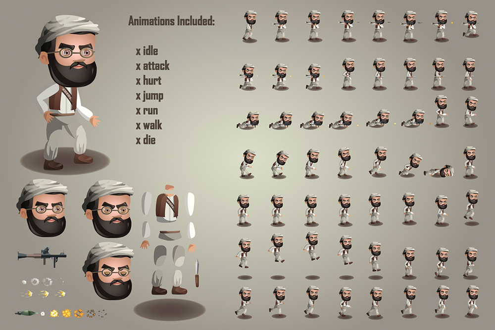 Free 2D Game Terrorists Character on Behance