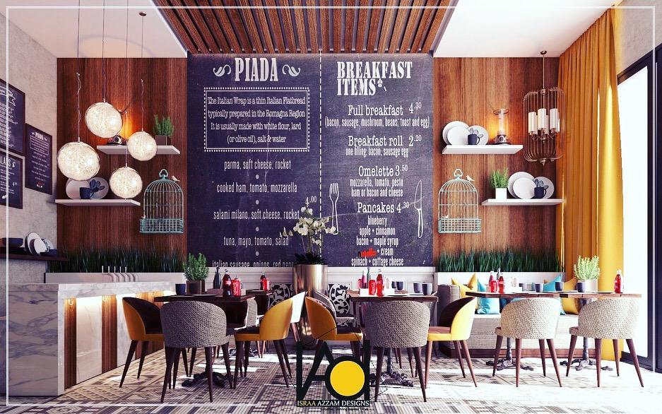 small restaurant design jeddah on behance