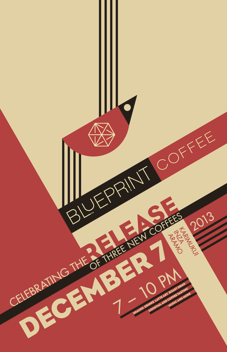 Blueprint coffee release poster on behance coffee bag for the event malvernweather Images