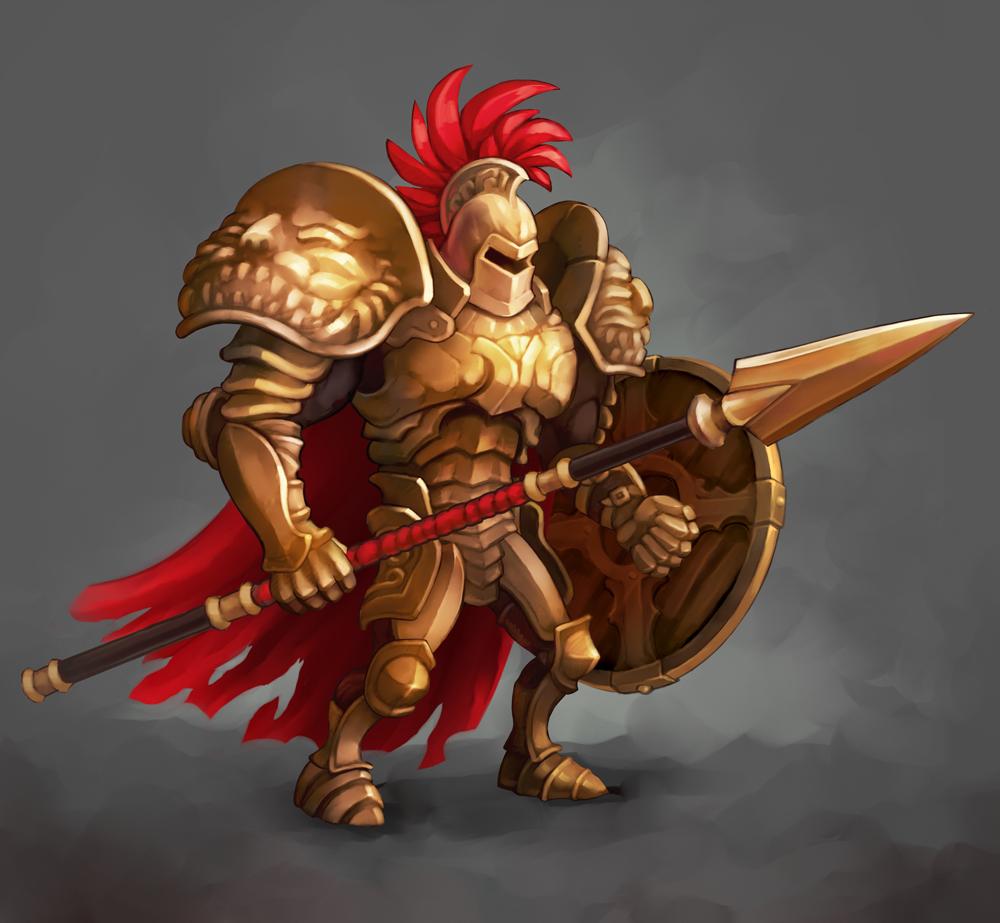 Gladiator  Spine animation  on Behance