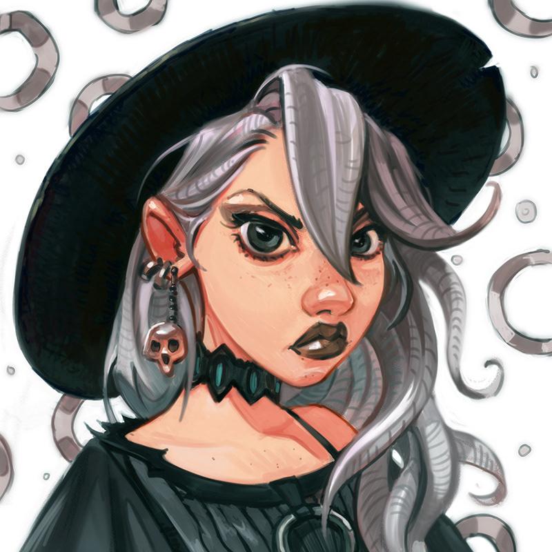 digital digitalart conceptart 2D girl witch