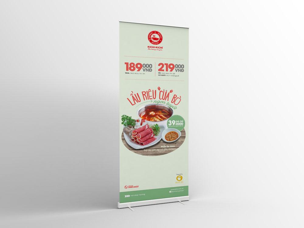menu extra restaurant kichi vietnam print Standee