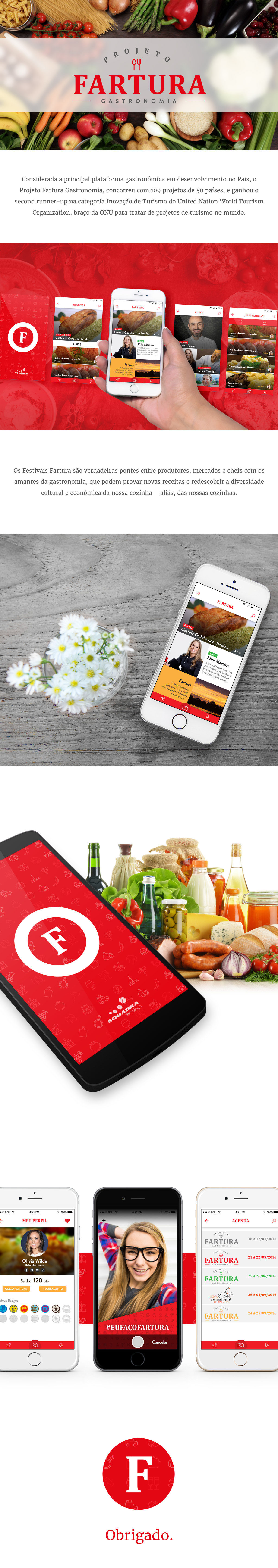 ux UI Food  app android ios gastronomy chef cook Brazil