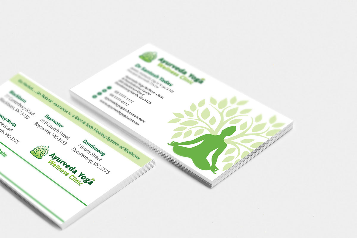 Ayurveda Yoga Visiting Card Design on Behance