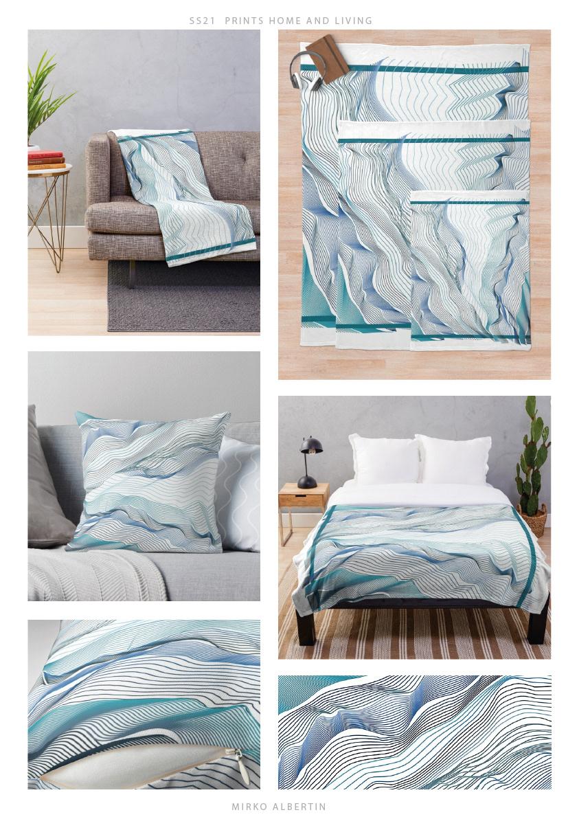 bedding design geometric home homedecor interiordesign linear minimal outline pillow