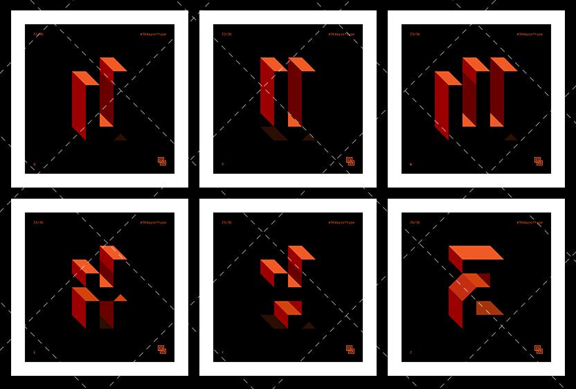 36daysoftype vector letter number Illustrator solosalsero adobe flat Icon logo