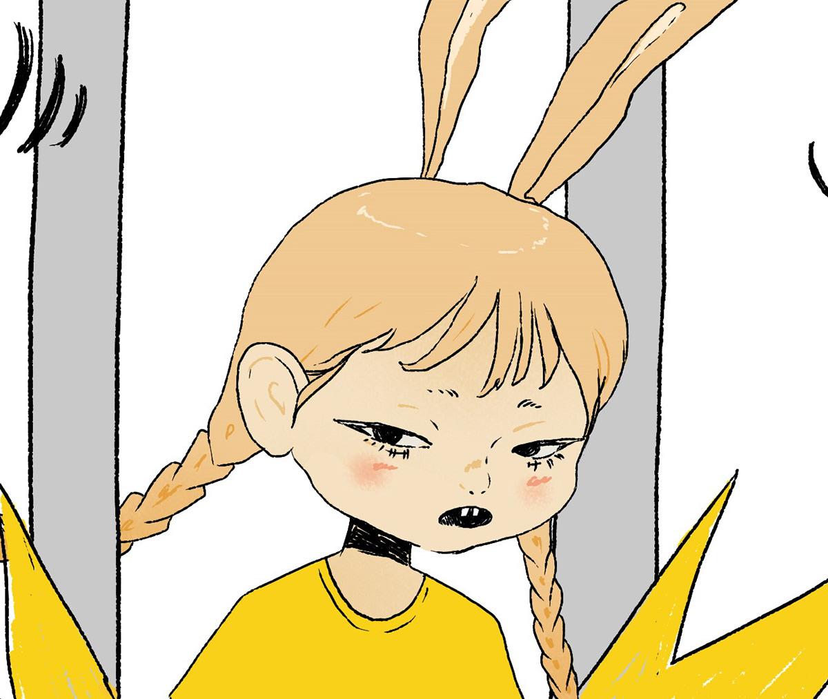 bunny cute girl lapin Mascot metro Paris serge