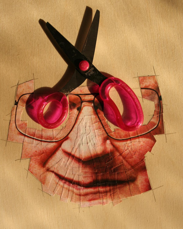 Hasselblad scissors collage paper collage