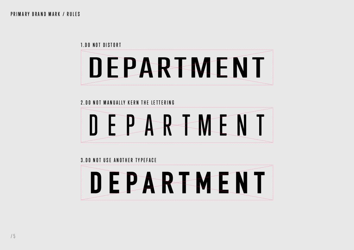 department branding  Rebrand typography   ux UI Web Design  brochure mobile guidelines