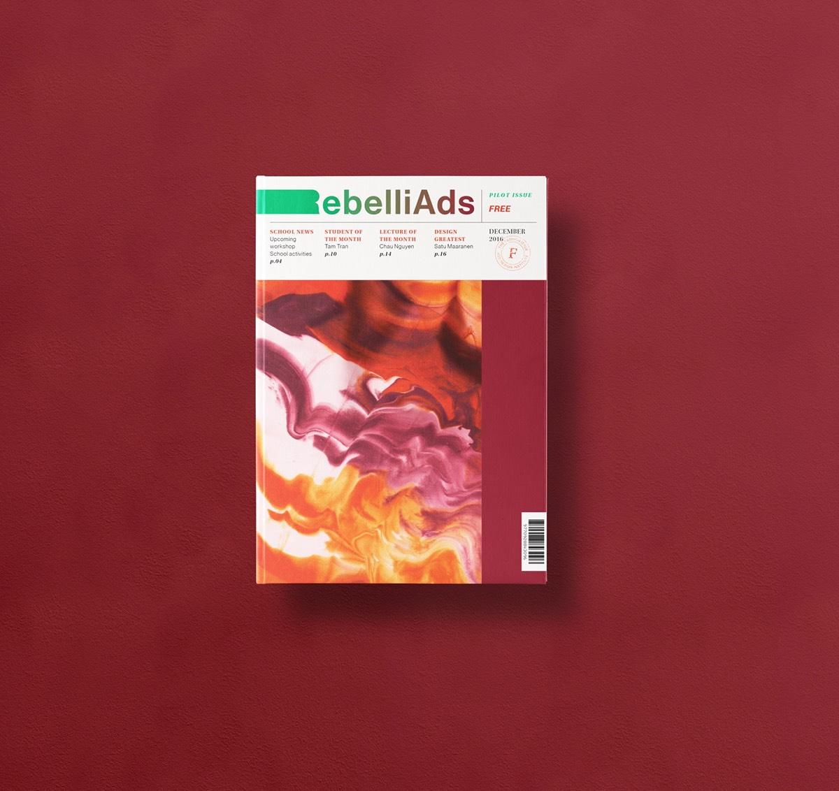 magazine microzine cover Layout gradient graphic direction design vietnam tri