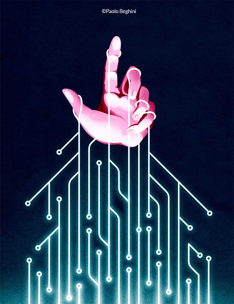 conceptual editorial news ILLUSTRATION  magazine International society science business people