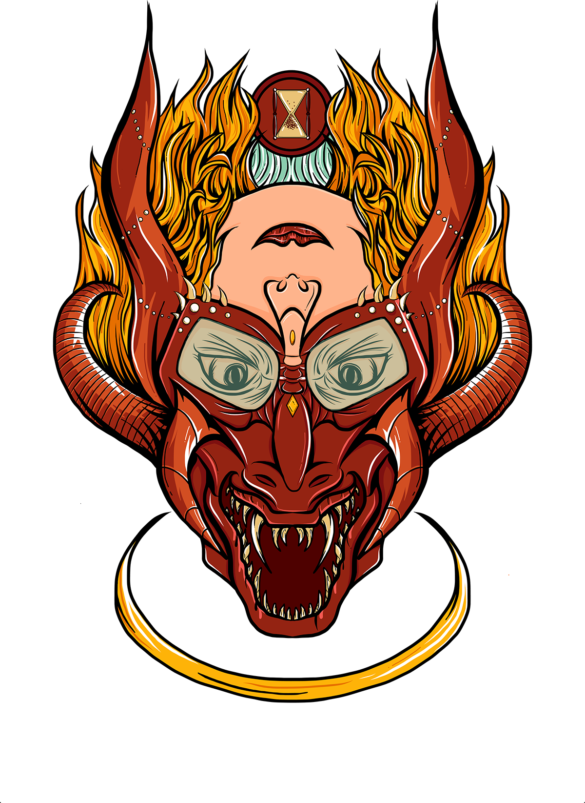 Seven deadly sins wrath and patience illustration on behance i ended up going with orange and peach colors for patience that flowed nicely with my chosen reds for wrath biocorpaavc Choice Image
