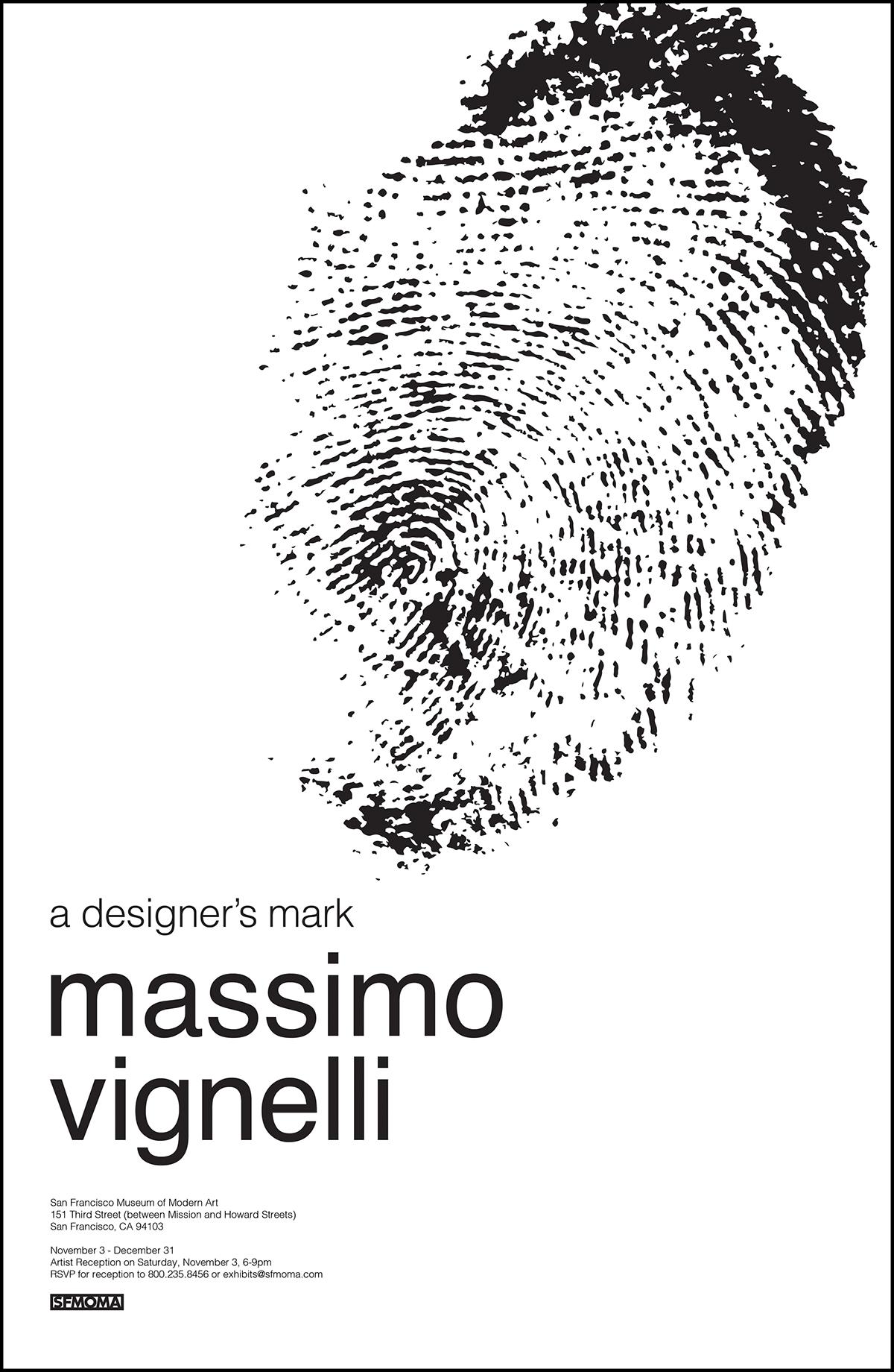 Massimo vignelli poster design modernist modern modernism moma
