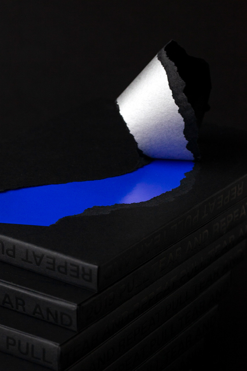 paper color pull tear experiment calendar time minimal concept design