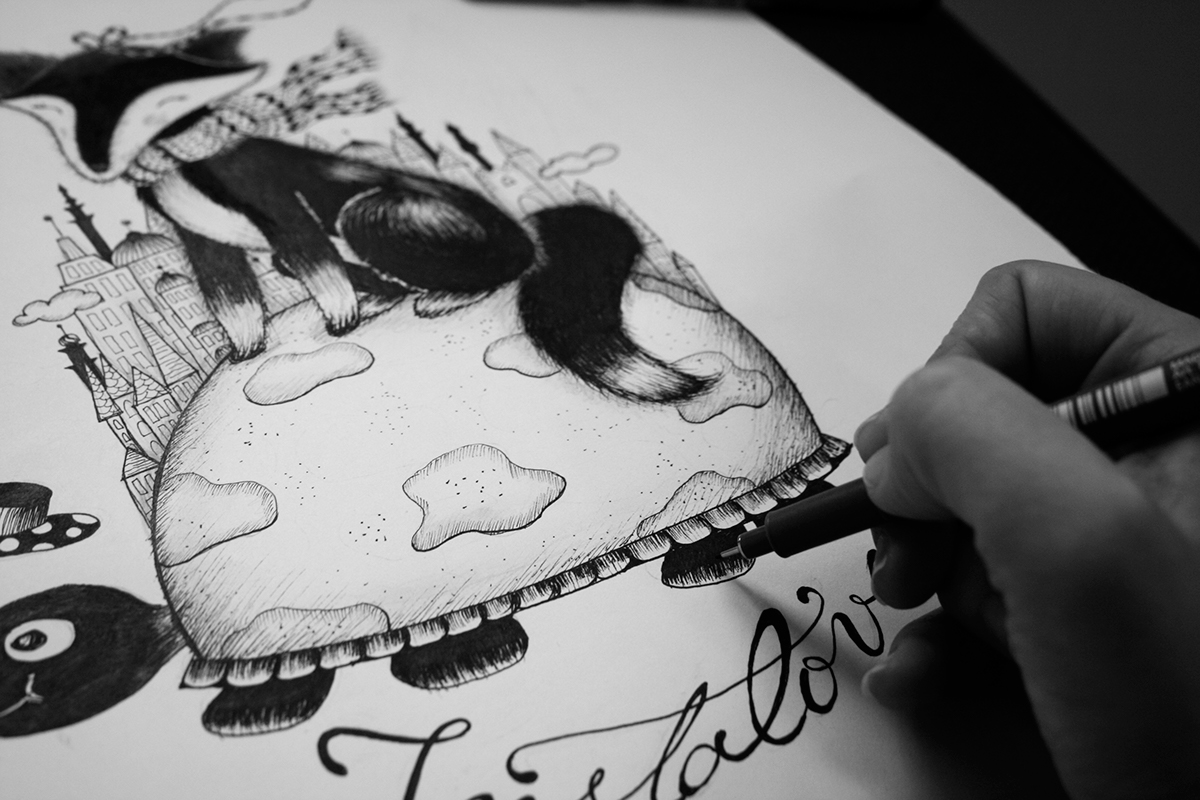 Monster Energy Wall Stickers Ink Illustrations On Behance