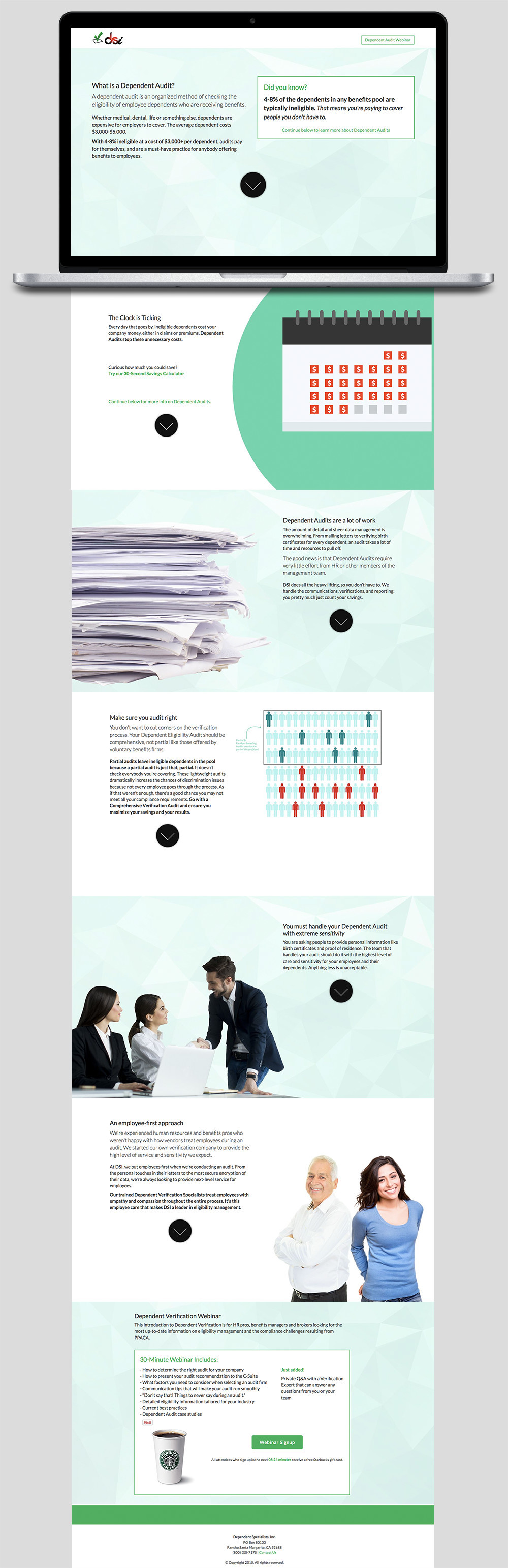 Landing Page - What is a Dependent Audit? on Behance
