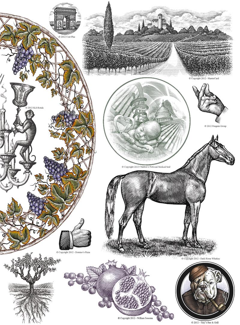 Image may contain: horse, animal and drawing