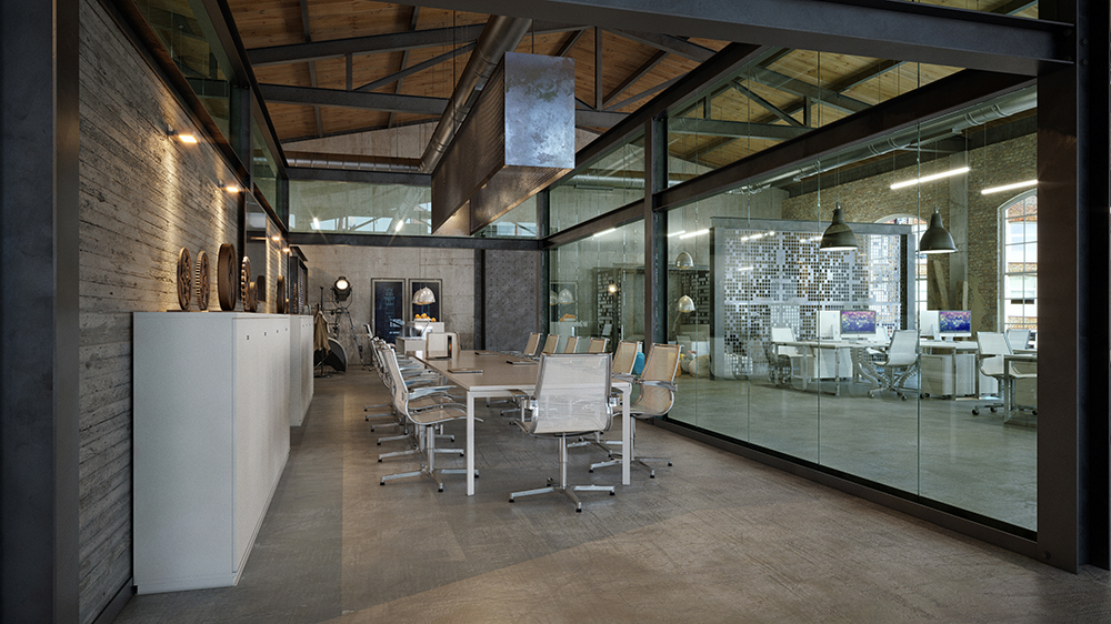 Office design loft it office interior design on behance for Loft office design