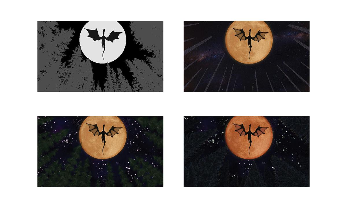 adobe dragon eclipse ILLUSTRATION  Illustrator Photo Manipulation  photoshop