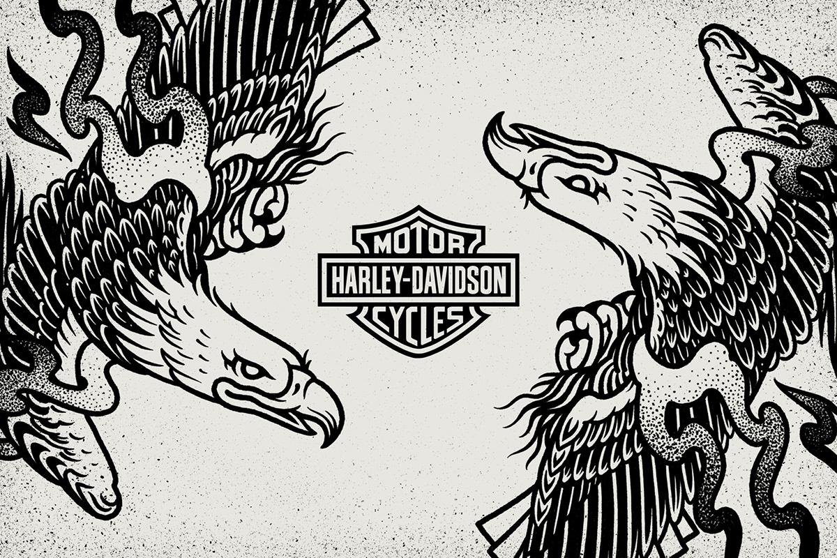 Harley Davidson Illustrations On Aiga Member Gallery