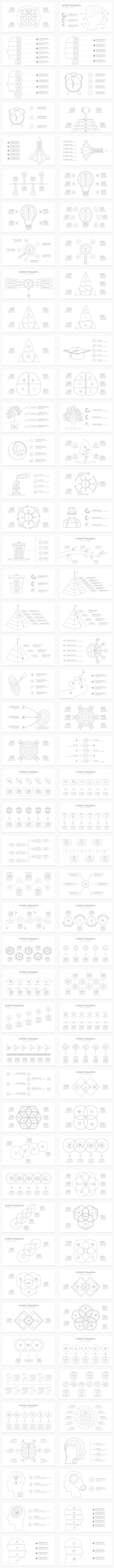 Scribble-Doodle Infographics PowerPoint Presentation Template - 2