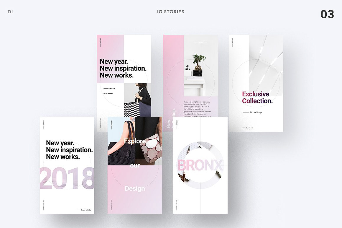 BRONX Light Instagram Stories Pack FREE DOWNLOAD! on Behance
