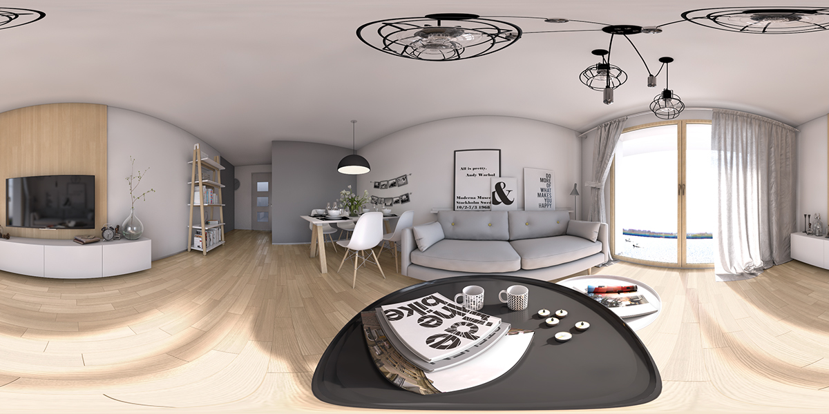 archvis Architectural Visualisation visualisation 3D modelling Scandinavian scandi Interior design White flat residential computer generated images CGI Computer graphic