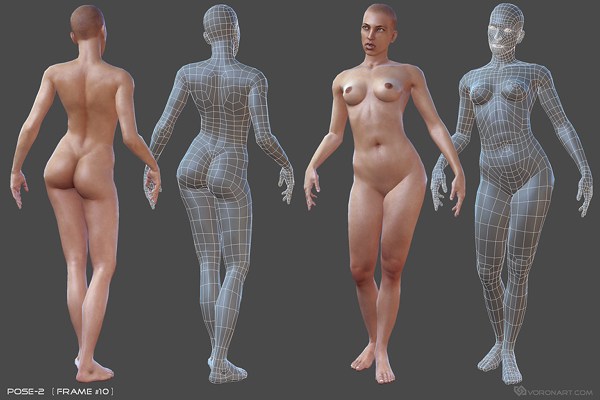 Nude Woman  (Rigged 3D character) on Behance