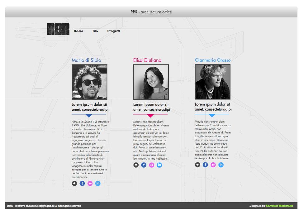 RBR - Architecture studio - Website design &development on Behance