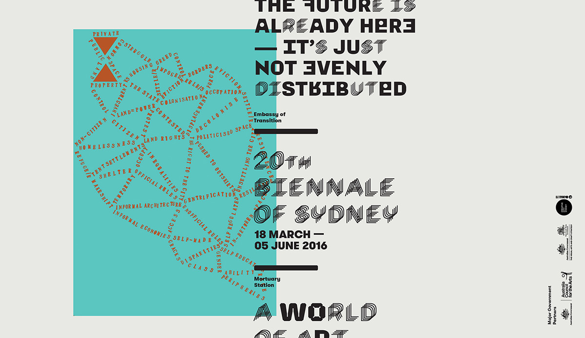 art Biennale sydney Character Typeface embassy Event Australia curator rosenthal 20bos