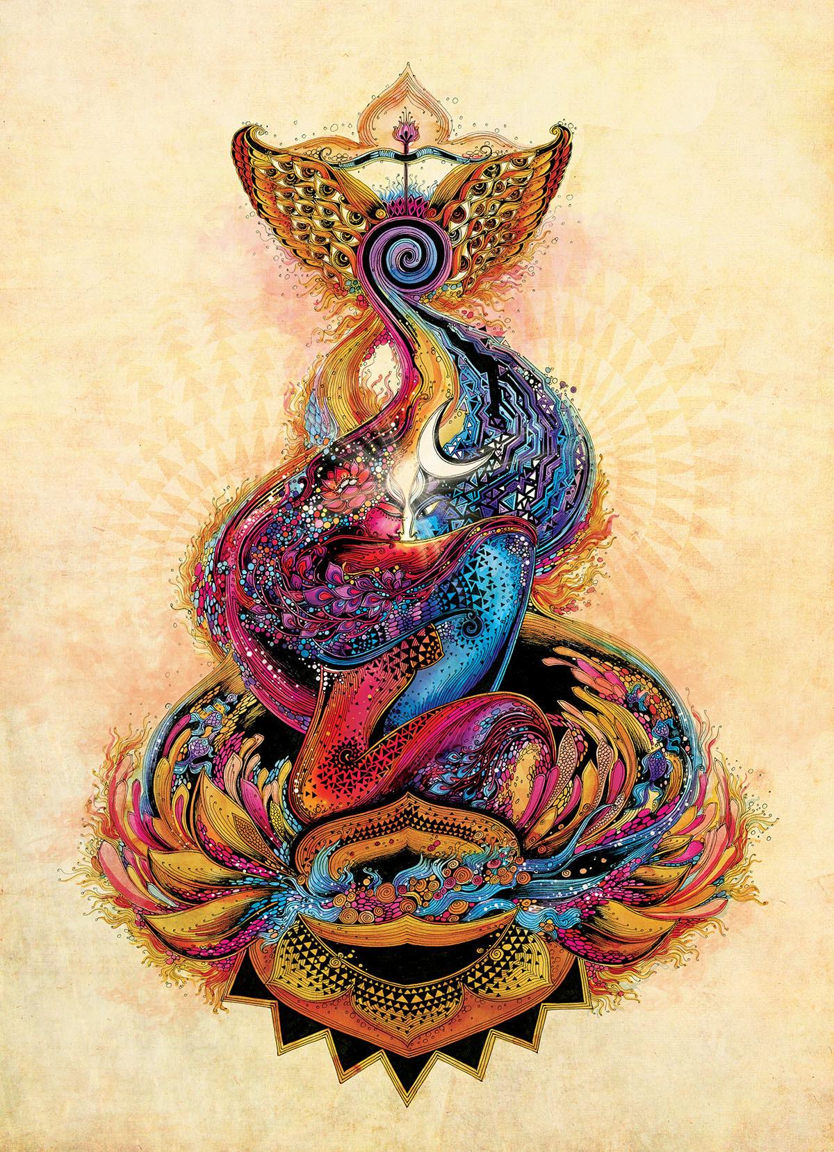 in search of life divine shiva shakti divine love on behance