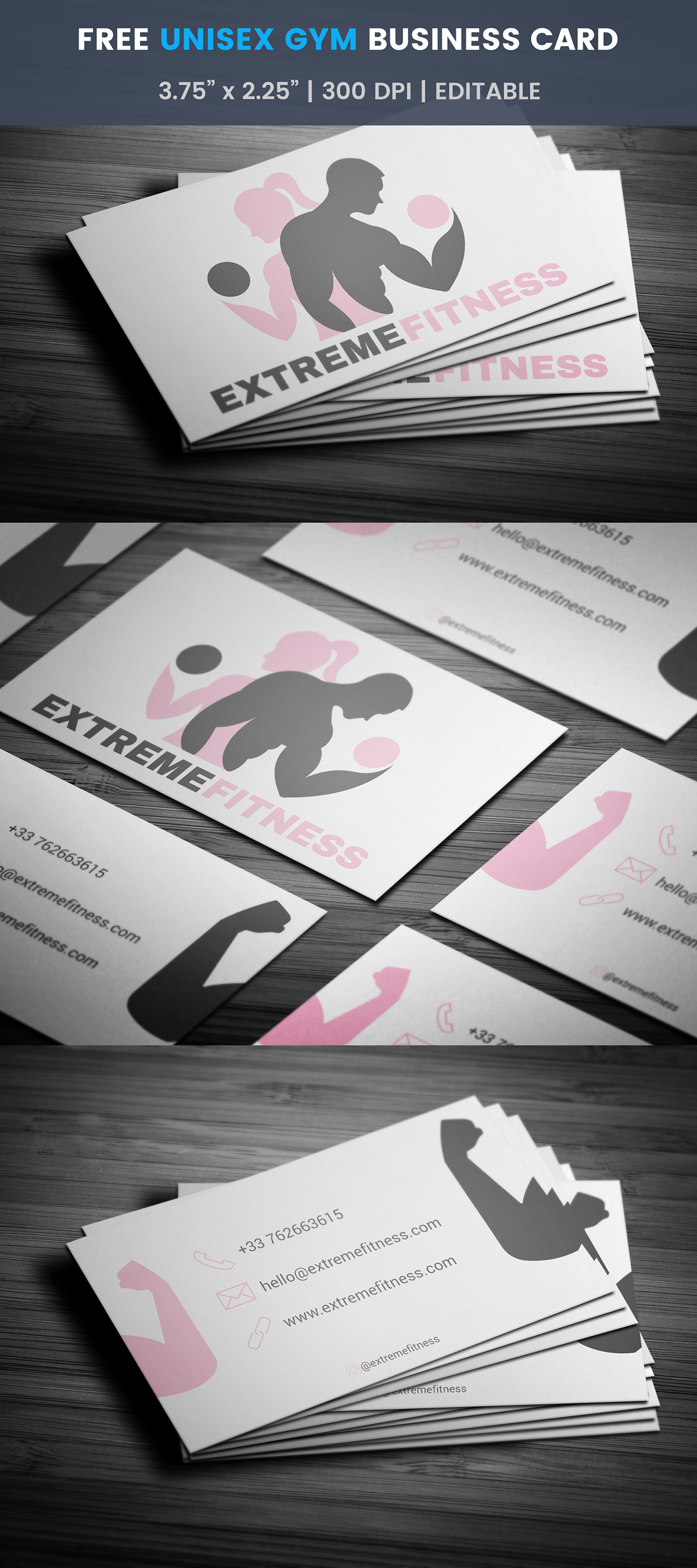 Free fitness business card template on student show free fitness business card template cheaphphosting Image collections