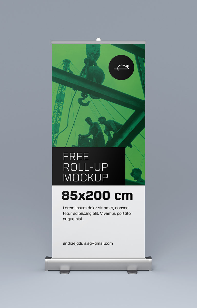 free roll up mockups on behance