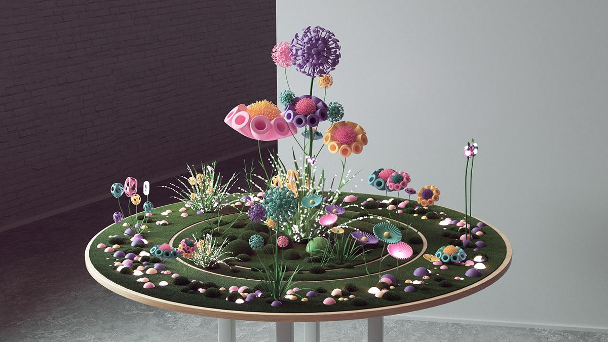 google IO AR vr 3D cinema4d c4d garden Nature Technology