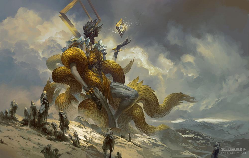 archangel gabriel the golden herald on behance